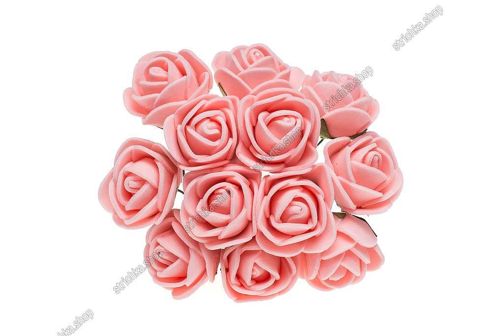 Роза латекс 1,5см. Персиковий